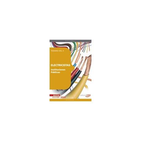 ELECTRICISTAS INSITUTCIONES PUBLICAS. Temario Volumen II