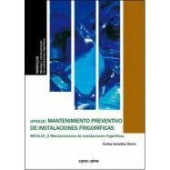 MANENIMIENTO PREVENTIVO DE INSTALACIONES FRIGORIFICAS