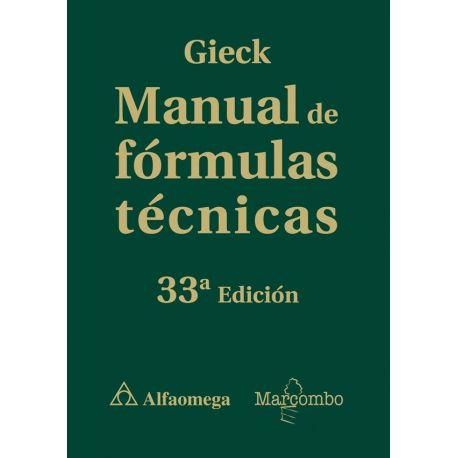 MANUAL DE FORMULAS TECNICAS - 33ª Edición