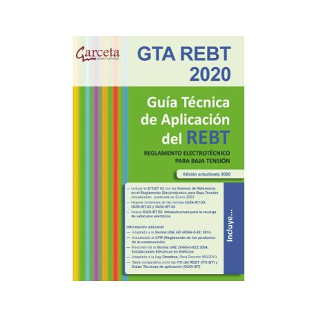 GTA REBT 2020. Guía Técnica de aplicación del REBT. 8ª edición
