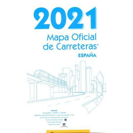 MAPA OFICIAL DE CARRETERAS 2021. ESPAÑA