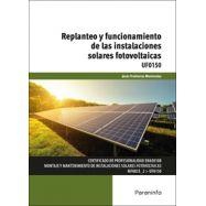 UF0150 - REPLANTEO Y FUNCIONAMIENTO DE LAS INSTALACIONES SOLARES FOTOVOLTAICAS
