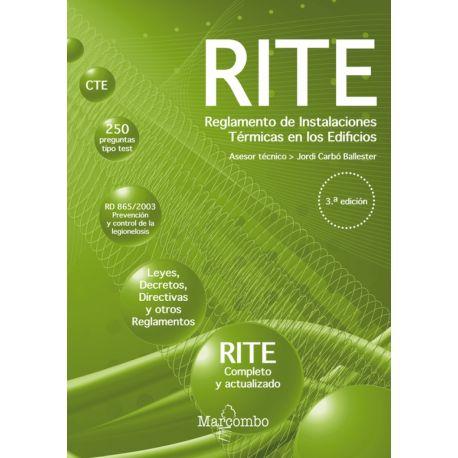 RITE. REGLAMENTO DE INSTALACIONES TERMICAS EN LOS EDIFICIOS- 3ª Ediciñon 29021